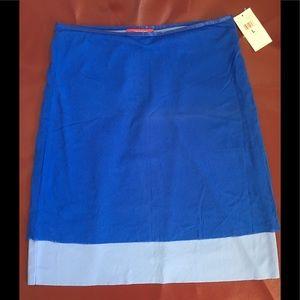 NWT ESPRIT Lightweight Blue Double Layer Skirt